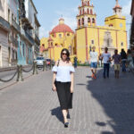 guanajuato, centro, downtown, catedral, off the shoulders top, zara, culottes, daniela soriano