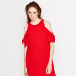 zara, red dress,