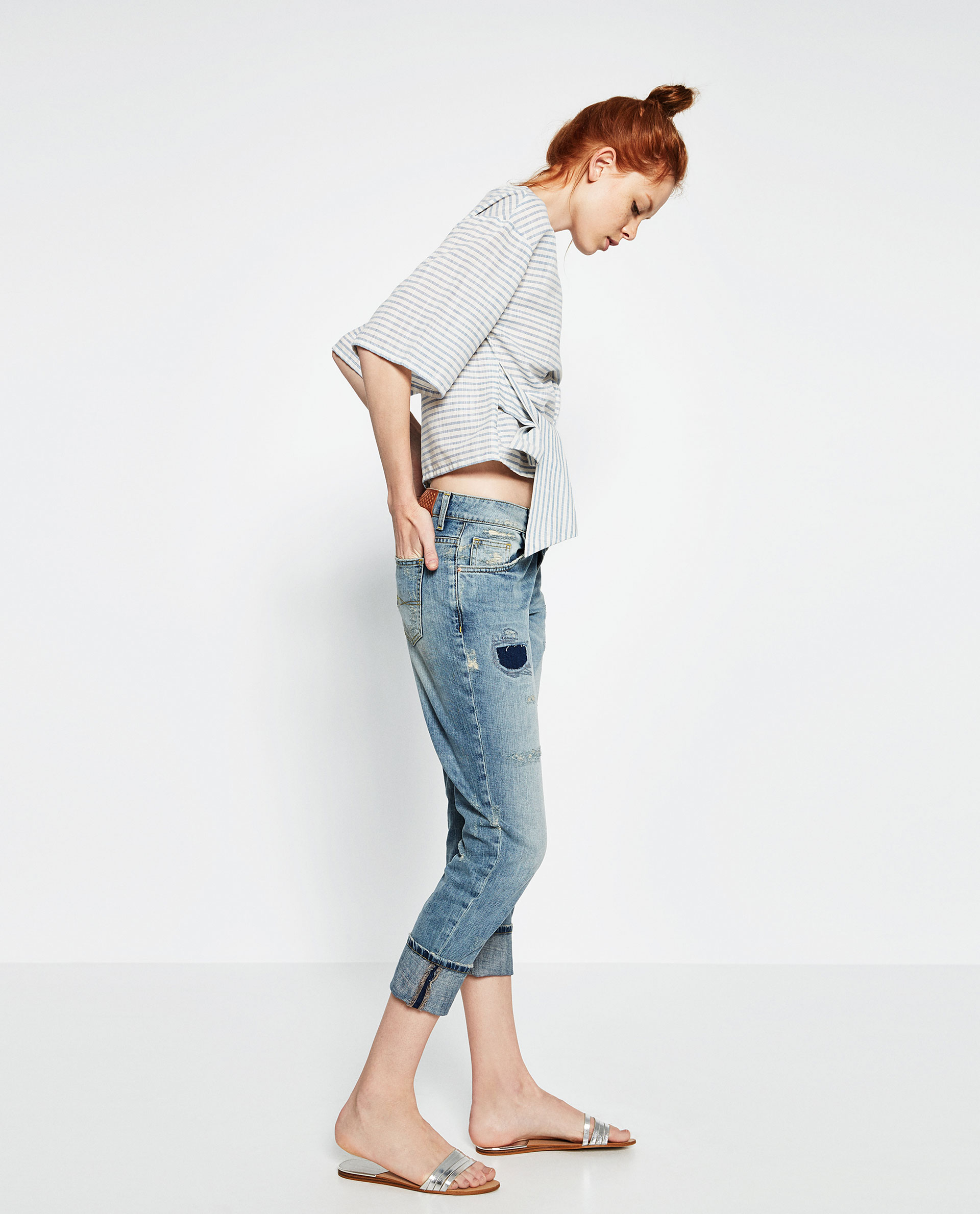 zara, cuffed jeans, styling tips