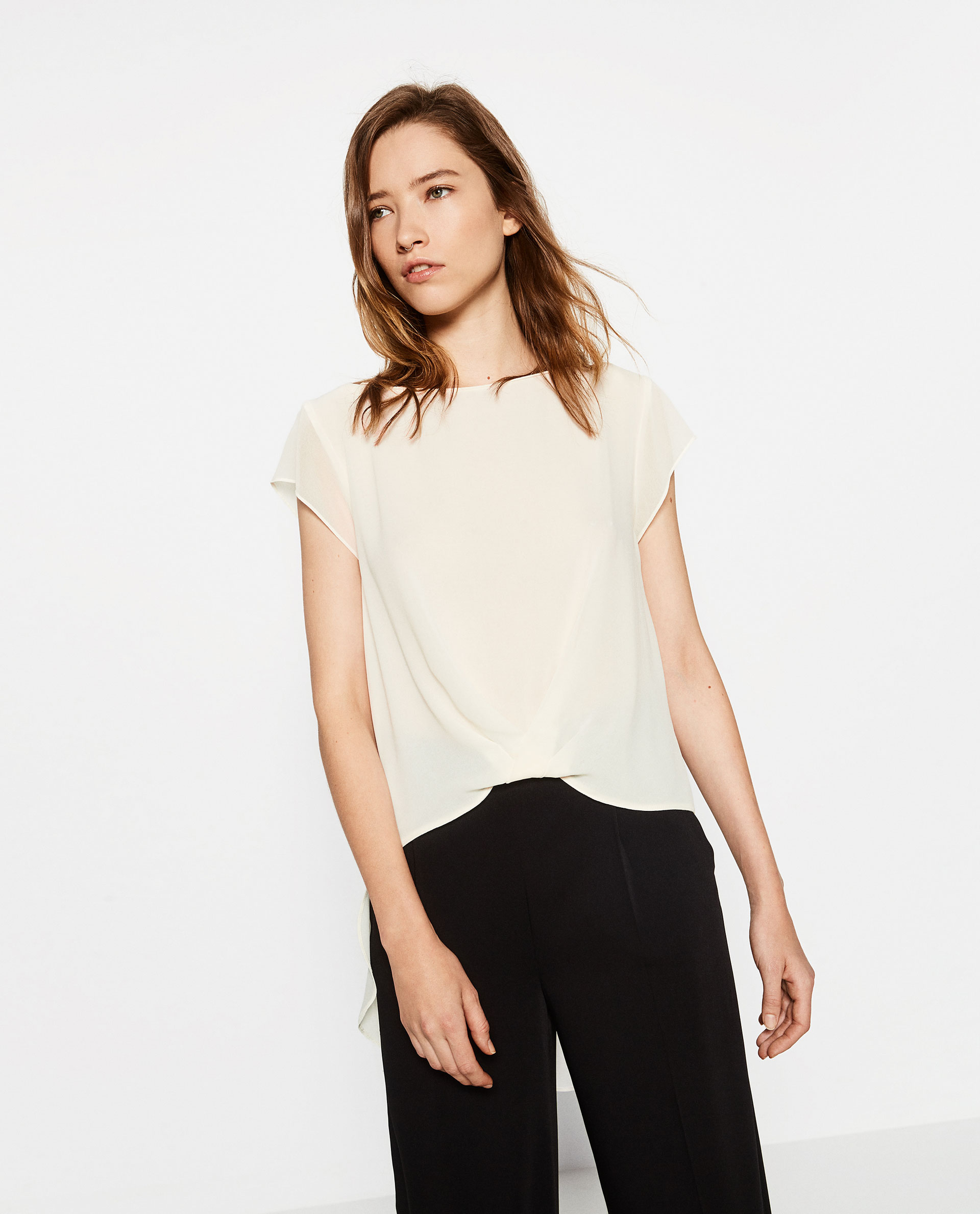 zara, top, off white