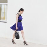 daniela soriano, blue dress, purple dress, forever 21, outfit, ideas,