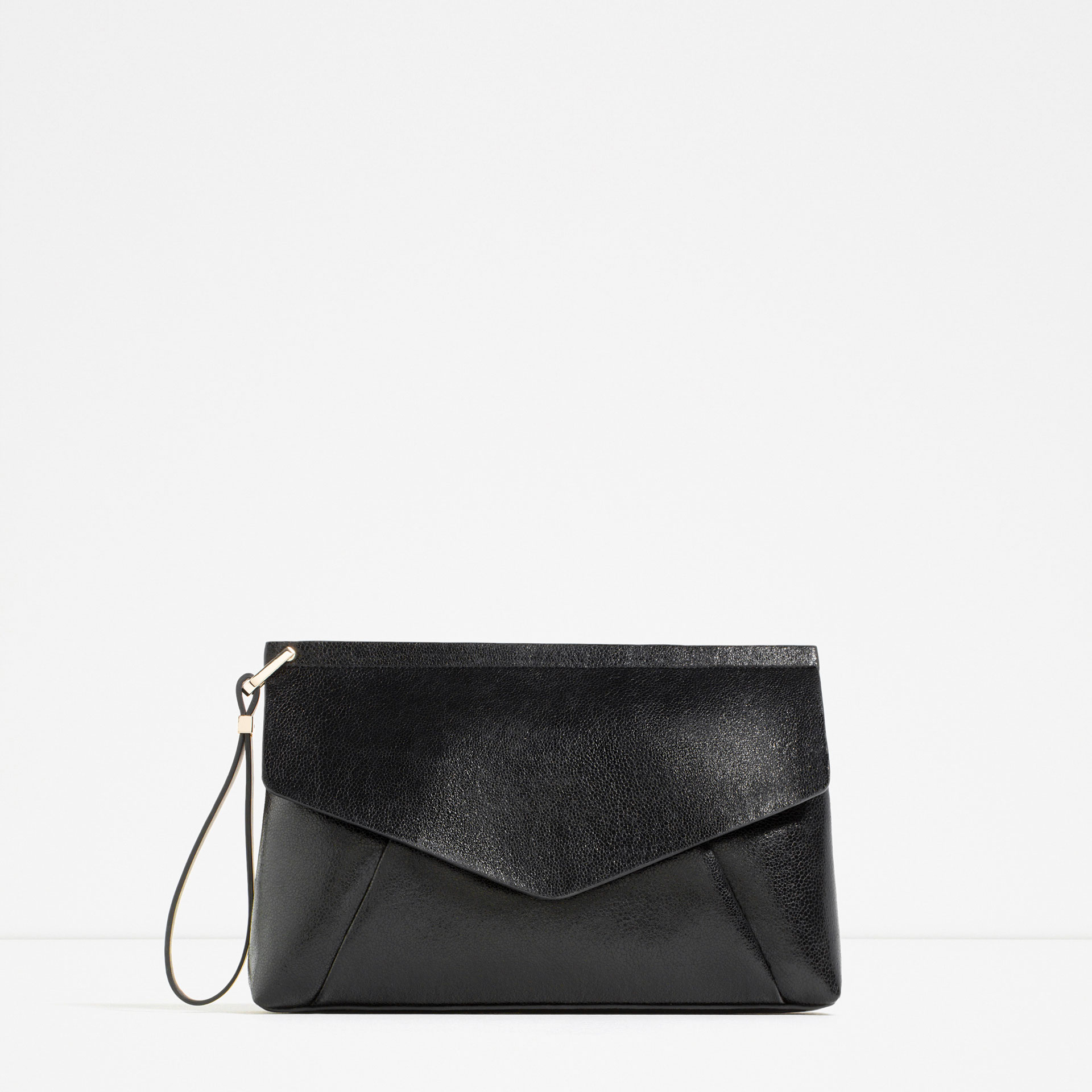 black, clutch, zara,