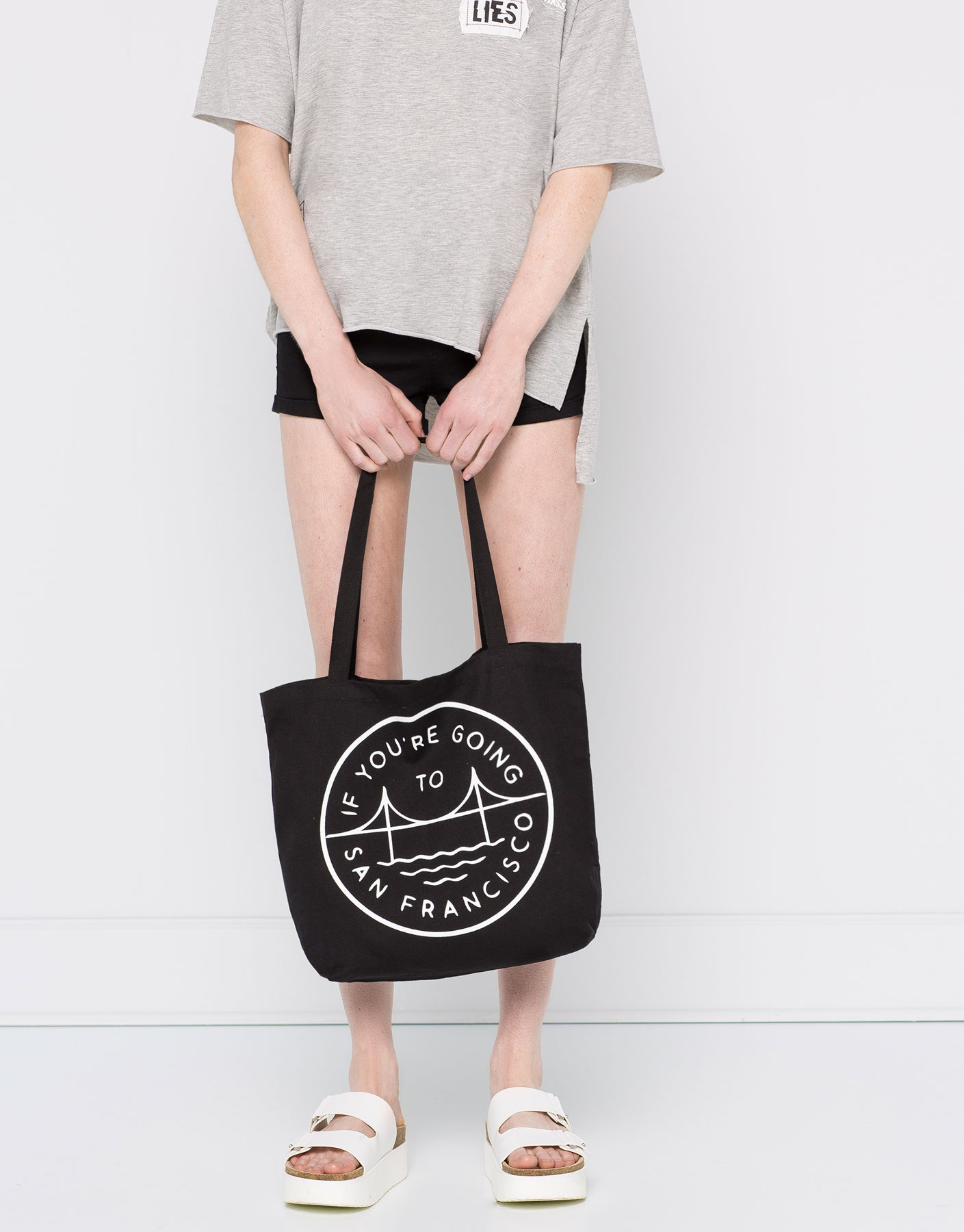 tote bag, beach bag, black, canvas