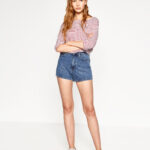 zara, denim shorts, high waisted,