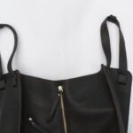 bag, handbag, loewe, dupe, black, leather, vegan leather, whats in my bag
