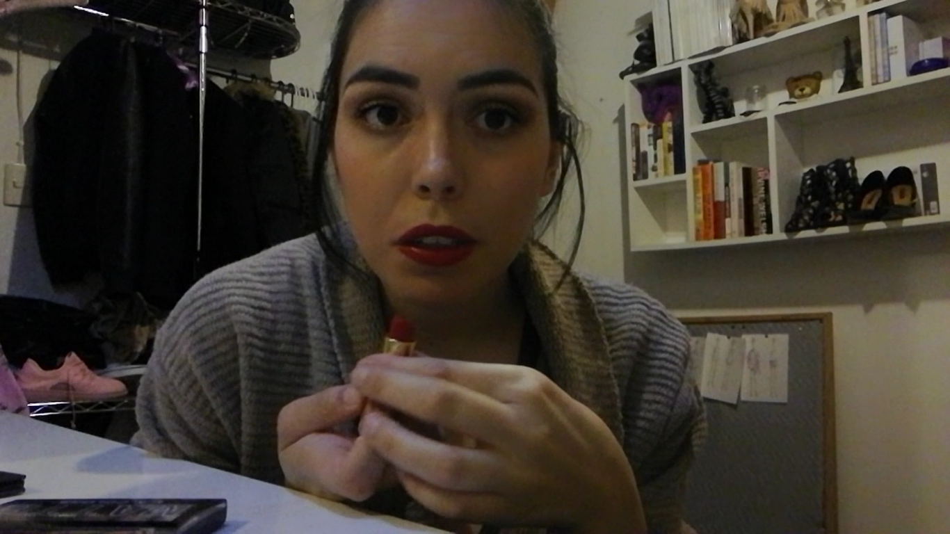 make up, daniela soriano, tutorial, holidays, red lip,