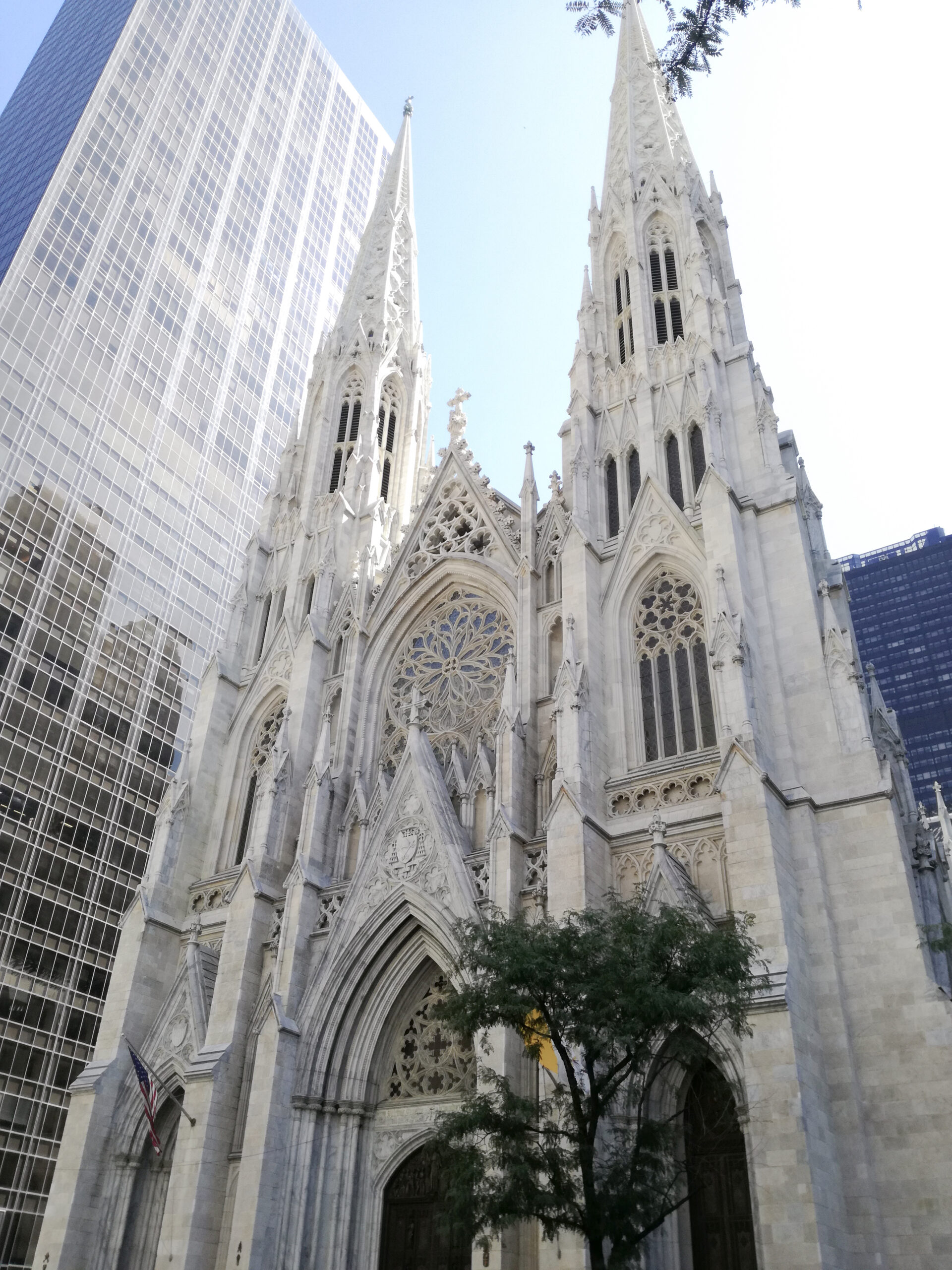 ny, nyc, saint patricks cathedral, fifth avenue,