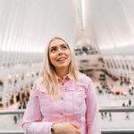 daniela soriano, new york, travel, tips for visiting new york, first time in new york, the oculus, pink denim jacket,