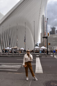 oculus, total look, brown, crop top, high waisted pants, handmade jacket, mexican brands, designers, hamano, nyfw, outfits, daniela soriano, street style