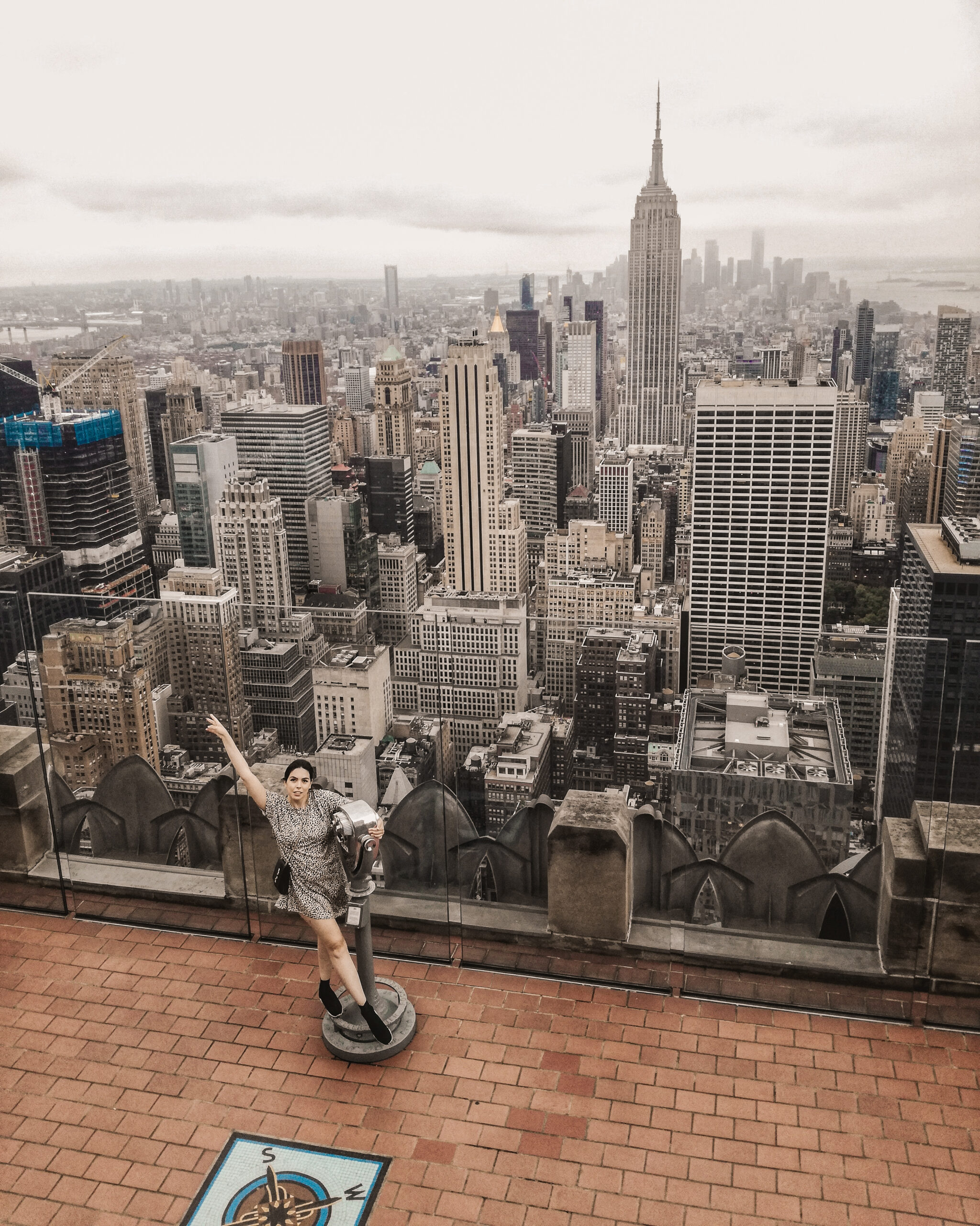 nyc, top of the rock, rockefeller center, obsevation deck, instagrammable places