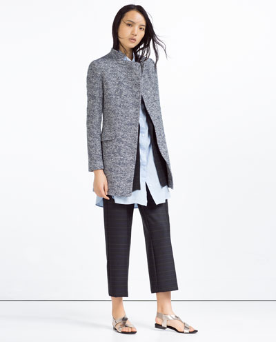 zara, coat, layering, gray coat,