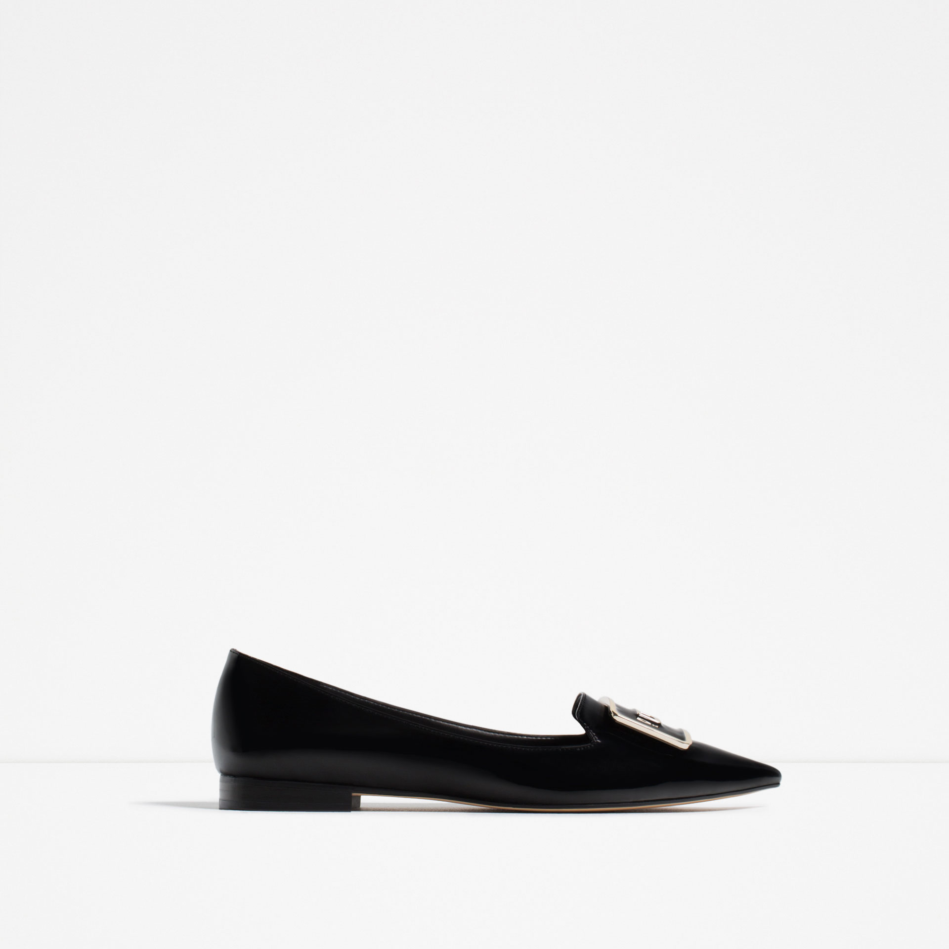 zara, loafers, black