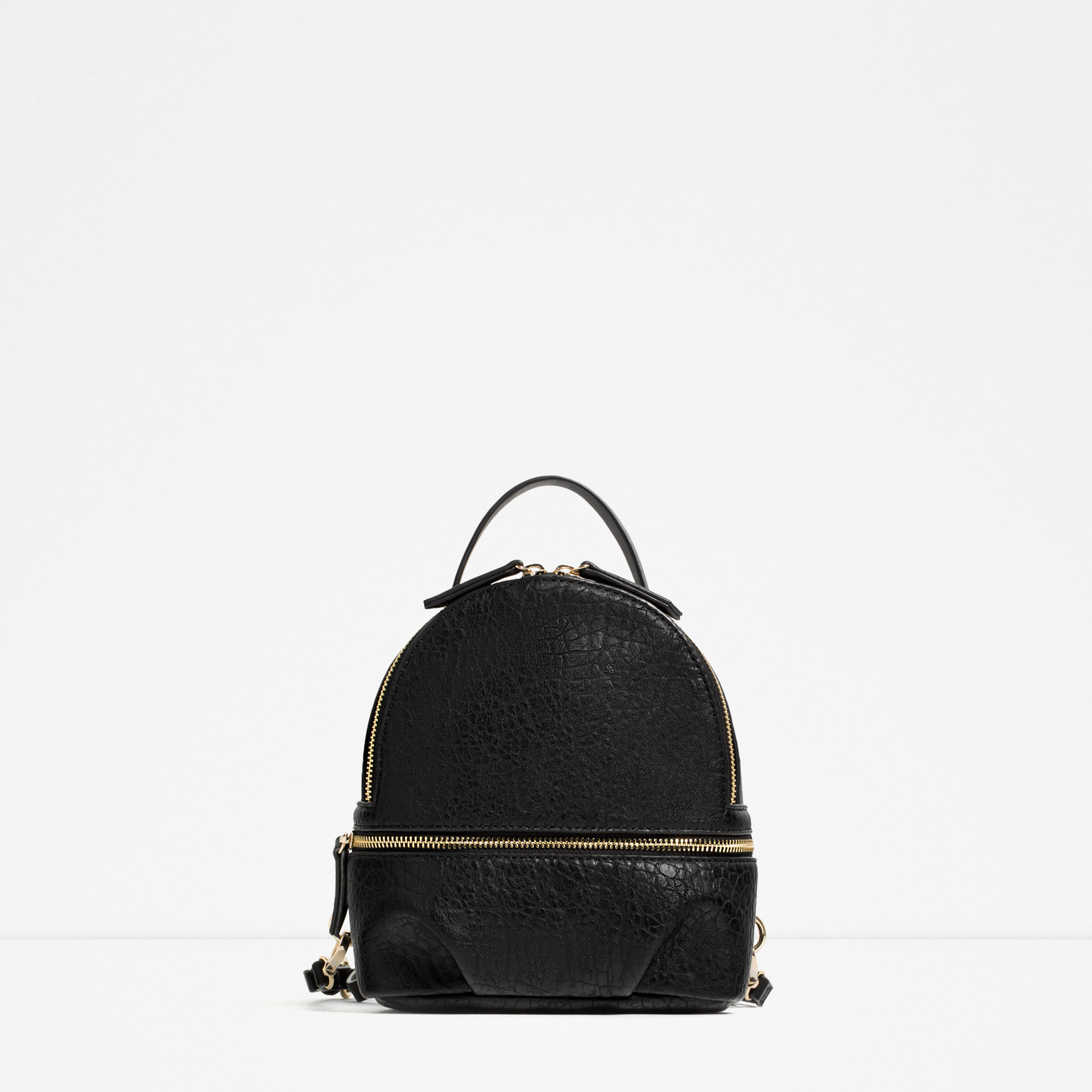 black, backpack, zara
