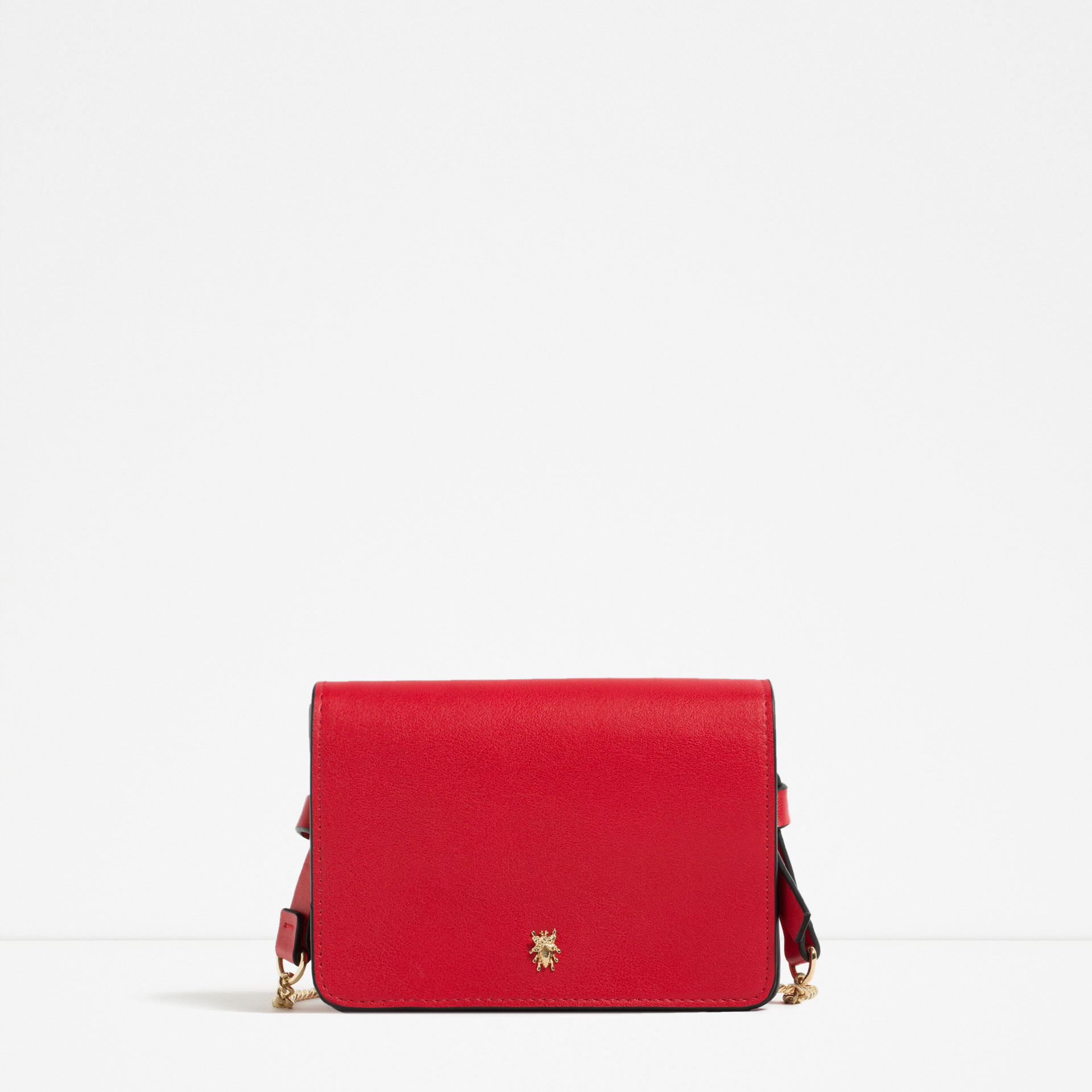 red, satchel, zara,