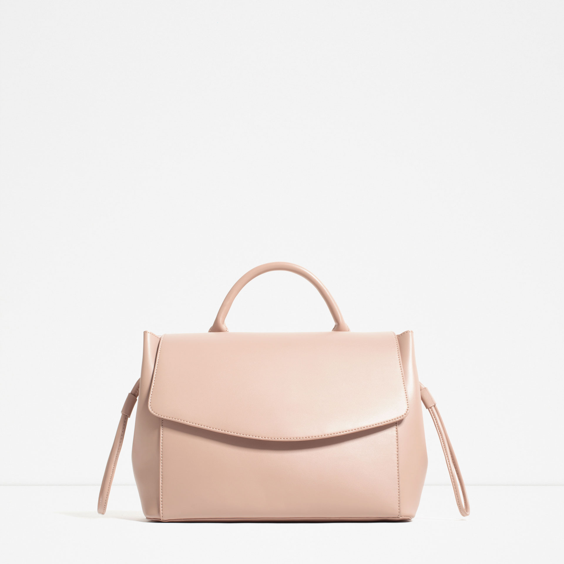 light pink, bag, structured, zara, hand bag,