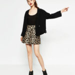 zara, animal print, skirt, mini