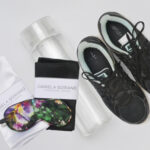 water bottle, reusable, minimal, daniela soriano, pillow cases, satin, linens, handmade, nike, sneakers, black, light blue,