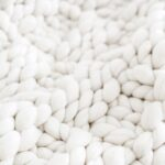 chunky knit, white, knit, closeup
