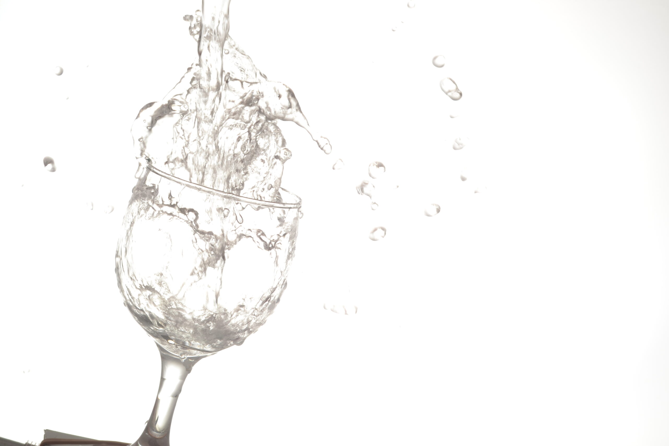 water, splashing, wine glass,