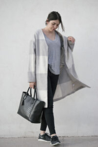 daniela soriano, outfit, adam lippes, coat, target, skinny jeans. minimal, structured bag, light gray, outfit ideas, oversized,