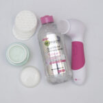 skincare, girating brush, micellar water, moisturizer, sunscreen, avene, first aid beauty,