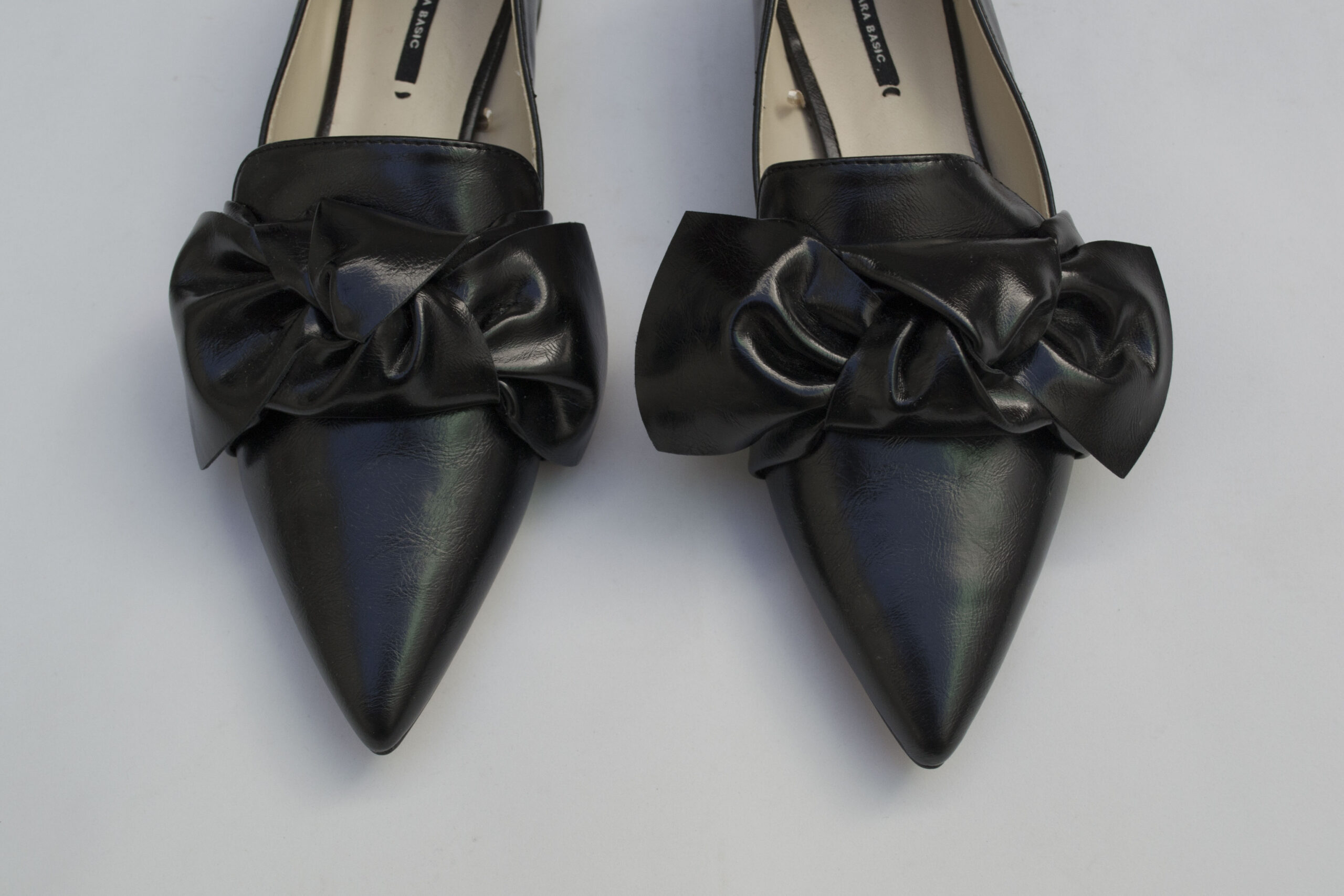 zara, flats, bow, black, shoes