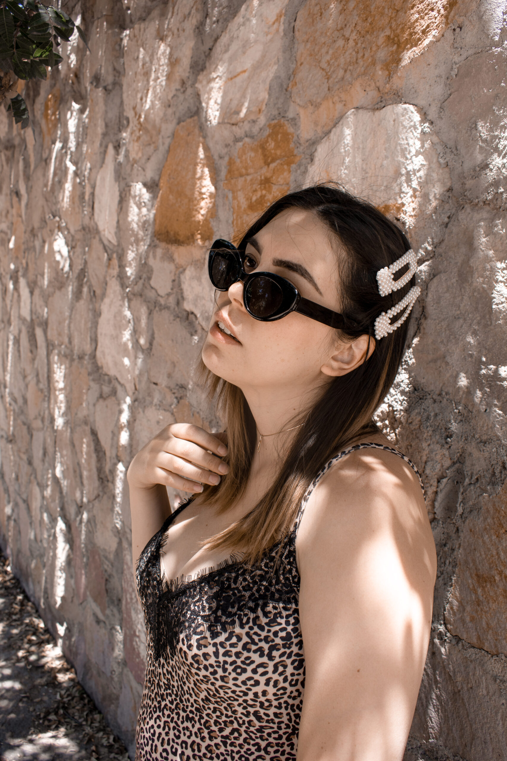 daniela soriano, animal print, slip dress, pull and bear,